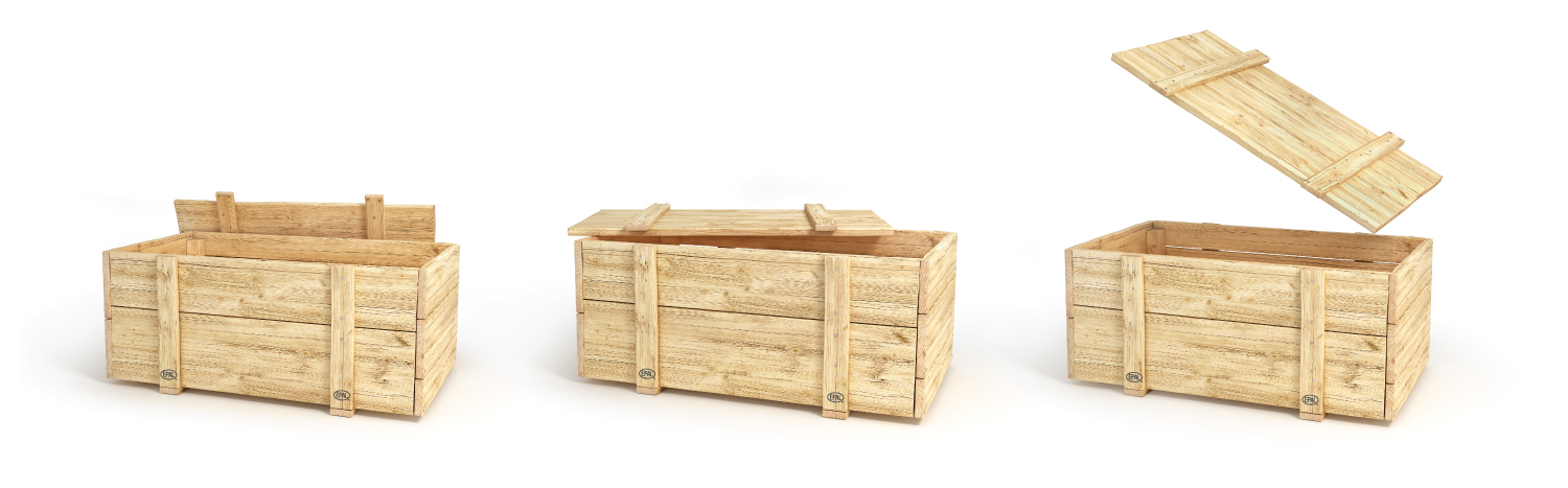 Fisher's Wooden Boxes Collars and Lids for epal pallets